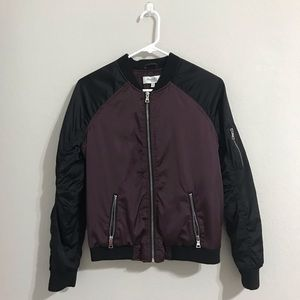 Charlotte Russe Purple/Black Bomber Jacket
